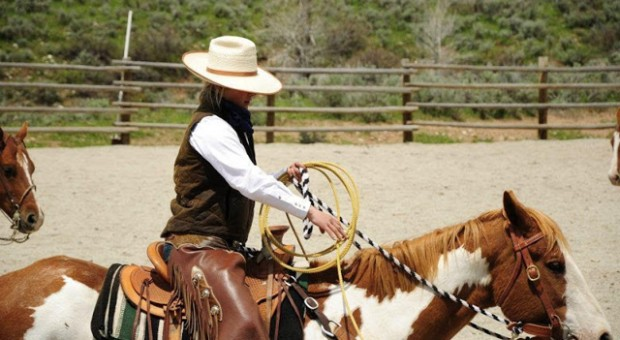 Watch the wranglers rope in the arena, and get a taste of how traditional cattle ranches doctored their cattle