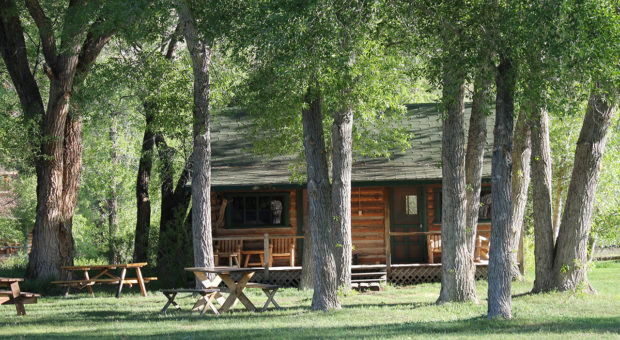 Guest cabins at Lazy L&B Ranch